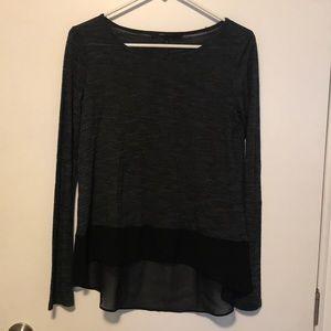 BCBGMAXAZRIA Lane - Black Long Sleeve Top